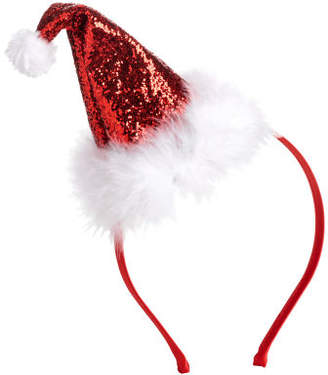 H&M Alice band with Santa hat - Red