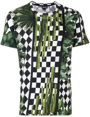 Just Cavalli checkerboard print T-shirt