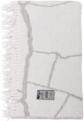 Crackle Cotton & Wool Jacquard Throw