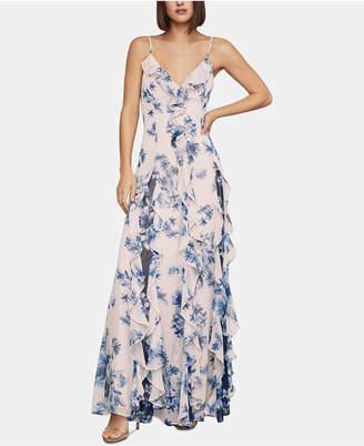 BCBGMAXAZRIA Floral-Print Chiffon Maxi Dress