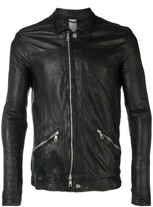 Giorgio Brato fitted zip front jacket