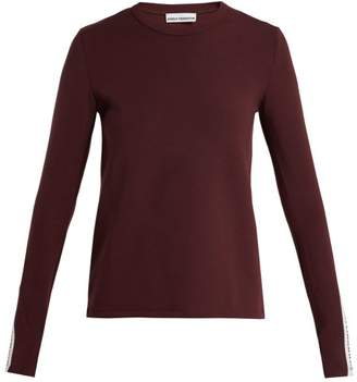 Paco Rabanne Bodyline Long Sleeved Performance T Shirt - Womens - Burgundy