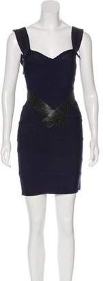 Herve Leger Embellished Mini Dress