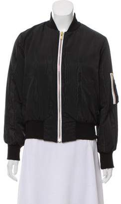 Olympia Le-Tan Embroidered Bomber Jacket