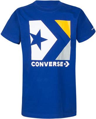 Converse Big Boys Chevron Star Logo Graphic Cotton T-Shirt