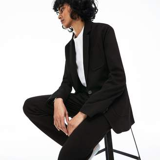 Lacoste Women's Side Stripe Bands Stretch Milano Knit Blazer