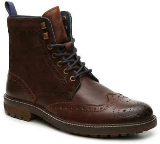 Rustic Asphalt Cobble Pot Wingtip Boot - Men's