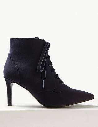 Marks and Spencer Extra Wide Fit Lace-up Stiletto Point Boots