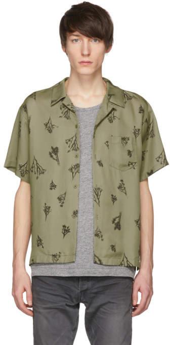 John Elliott Green Joshua Tree Bowling Shirt