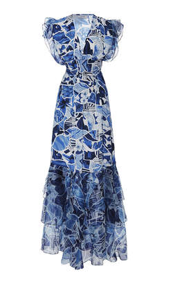 Isolda Pri Cinch Waist Ruffle Maxi Dress