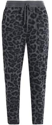 Splendid Leopard-Print Stretch-Jersey Track Pants
