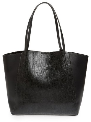Bp. Colorblock Faux Leather Tote - Black $49 thestylecure.com