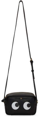 Anya Hindmarch Black Mini Eyes Crossbody Bag
