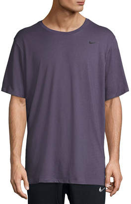 Nike Heathered Dri-Fit Moisture Wicking Short Sleeve Tee