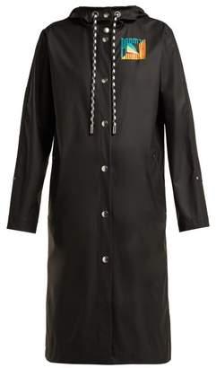 Proenza Schouler Pswl - Hooded Rubberised Rain Jacket - Womens - Black Multi