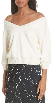 3.1 Phillip Lim French Terry Crop Sweater (Nordstrom Exclusive)