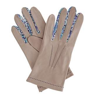 Gizelle Renee - PhiloMENa Grey Leather Gloves With BC Liberty Tana Lawn