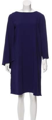 Alberta Ferretti Asymmetrical Sheath Dress