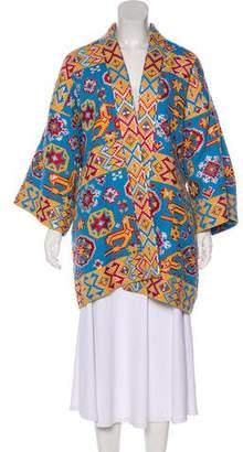 Valentino 2016 Jacquard Kimono Coat