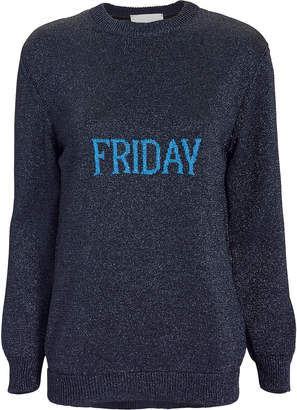 Alberta Ferretti Friday Lurex Oversized Sweater
