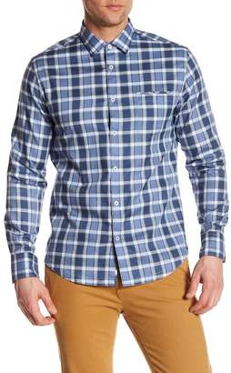 Good Man Brand Plaid Long Sleeve Trim Fit Shirt