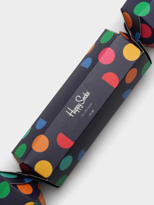 Happy Socks Big Dot Cracker 2-Pair Sock Set in Blue Green