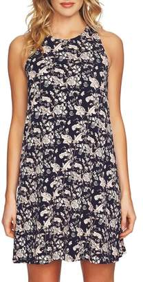 CeCe Ivy Forest Twist Back Shift Dress