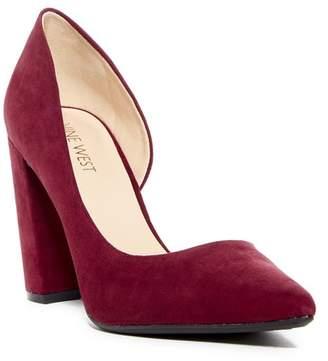 Nine West Anisa d'Orsay Suede Block Heel Pump (Women)