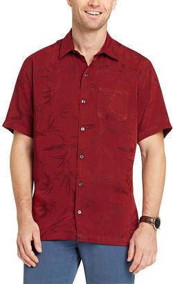 Van Heusen Short Sleeve Leaf Button-Front Shirt