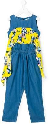 MSGM Kids floral panel jumpsuit