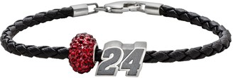 "Insignia Collection NASCAR Jeff Gordon Leather Bracelet & ""24"" Bead Set"