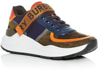 Burberry Women's Ronnie Mixed Media Low-Top Sneakers