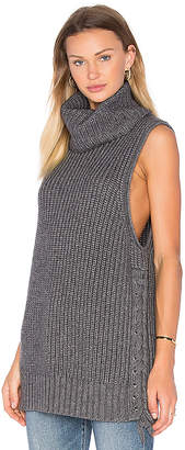 Autumn Cashmere Lace Up Sweater in Gray $374 thestylecure.com