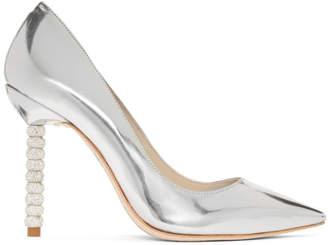 Sophia Webster Silver Metallic Coco Crystal Heels