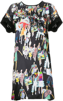Tsumori Chisato fashion model print dress