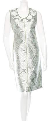 Prada Metallic Brocade Dress