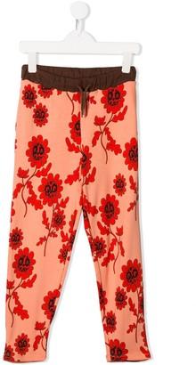 Mini Rodini floral print track pants