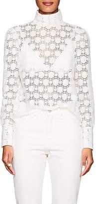 Officine Generale Women's Jade Cotton-Blend Lace Blouse