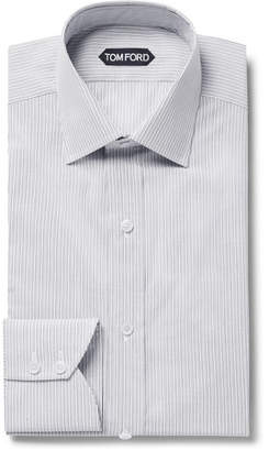 Tom Ford Slim-Fit Striped Cotton Shirt