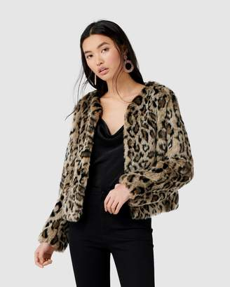 Forever New Jenna Leopard Faux Fur Coat