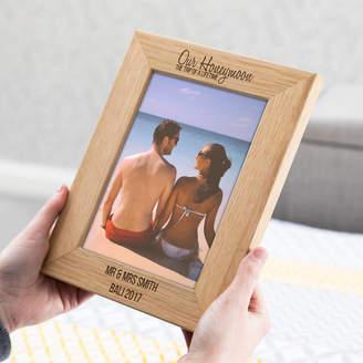 Mirrorin Personalised Honeymoon Oak Picture Frame