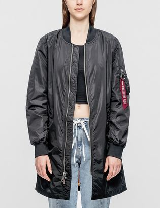 Alpha Industries W MA-1 Long Jacket $255 thestylecure.com