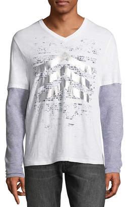 i jeans by Buffalo Long Sleeve V Neck T-Shirt