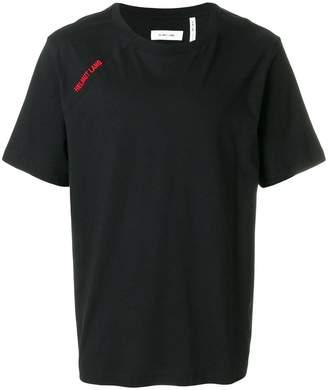Helmut Lang cut neck logo T-shirt
