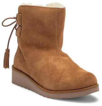 Koolaburra BY UGG Lomia Genuine Sheepskin & Faux Fur Lined Wedge Short Boot (Women)