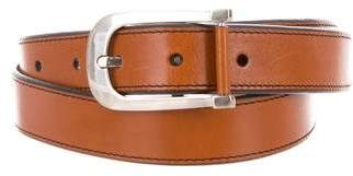 Tom Ford Silver-Tone Leather Belt