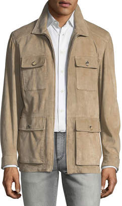 Isaia Suede Field Jacket