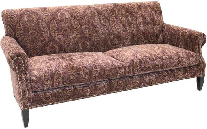 Old Hickory Tannery Paisley Merlot Sofa