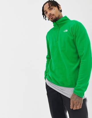 The North Face 100 Glacier 1/4 Zip Fleece in Green