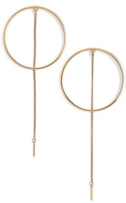 Women's Jenny Bird Rhine Frontal Hoop Earrings $65 thestylecure.com